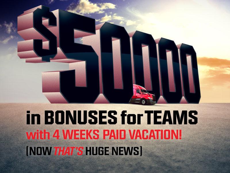 Huge News: Teams Can Earn up to $50,000 in Bonuses!